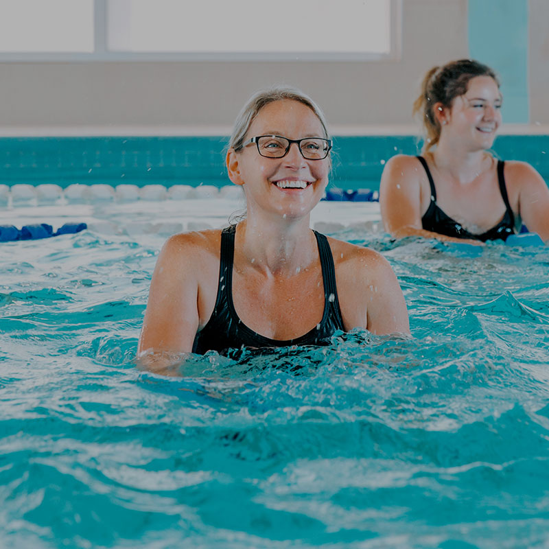 Gym with swimming and aquatic classes for seniors, adults and children